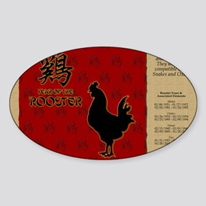 czodiac-10-rooster Sticker (Oval)