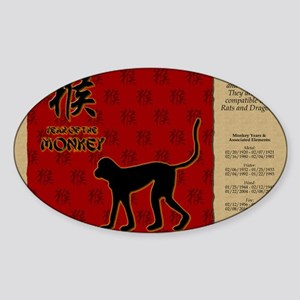 czodiac-09-monkey Sticker (Oval)