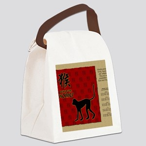 czodiac-09-monkey Canvas Lunch Bag