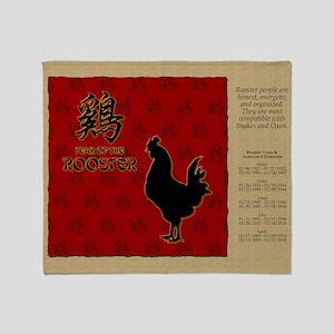 czodiac-10-rooster Throw Blanket
