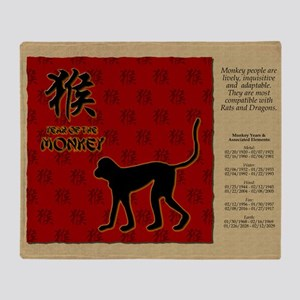 czodiac-09-monkey Throw Blanket