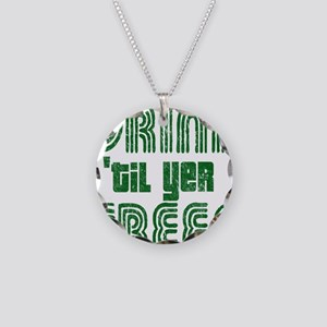 Drintilyergreendark Necklace Circle Charm