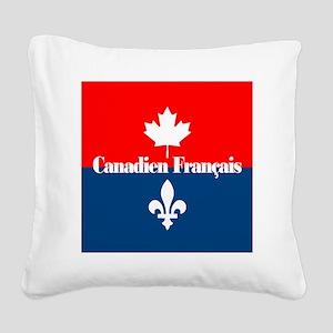 Canadien Francais (sq) Square Canvas Pillow