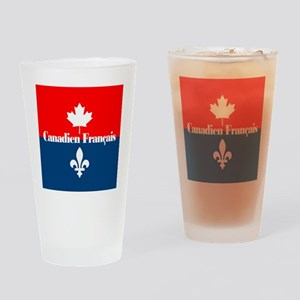 Canadien Francais (sq) Drinking Glass