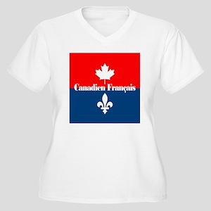Canadien Francais Women's Plus Size V-Neck T-Shirt