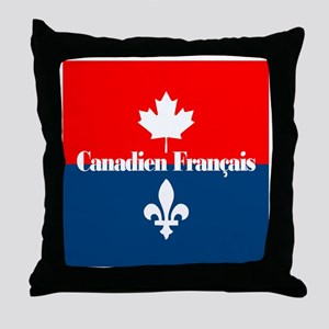 Canadien Francais (sq) Throw Pillow
