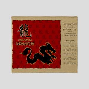 czodiac-05-dragon Throw Blanket