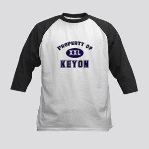 Property of keyon Kids Baseball Jersey