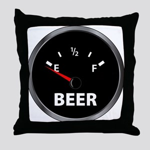 Out of Beer Throw Pillow