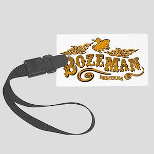 Bozeman Saloon Large Luggage Tag