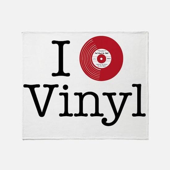 I Heart Vinyl Throw Blanket