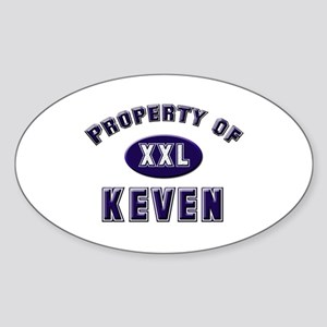 Property of keven Oval Sticker