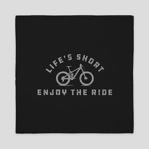 Life's Short Enjoy The Ride Queen Duvet
