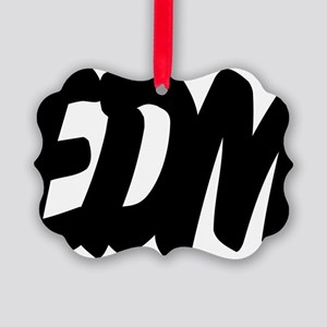 EDM Brushed W Picture Ornament
