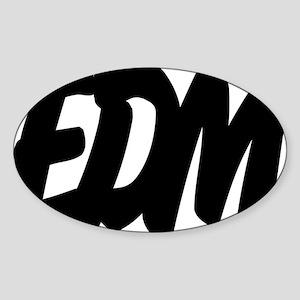 EDM Brushed W Sticker (Oval)