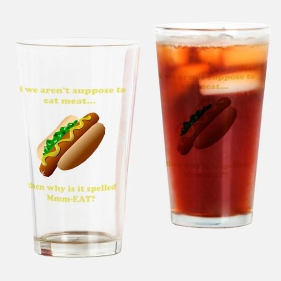 MmmEat Yellow Drinking Glass