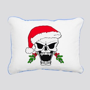 Santa skull Rectangular Canvas Pillow