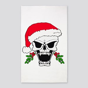 Santa skull 3'x5' Area Rug