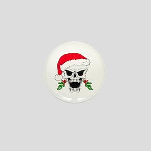 Santa skull Mini Button