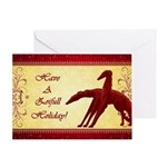 Have A Zoifull Holiday Borzoi Card