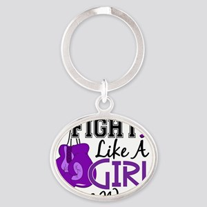 Fight Like A Girl Lupus 15.2 Oval Keychain