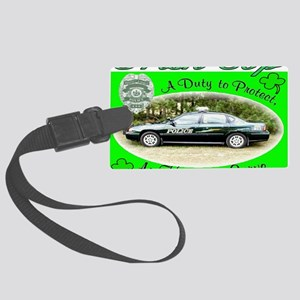 irish cop Large Luggage Tag