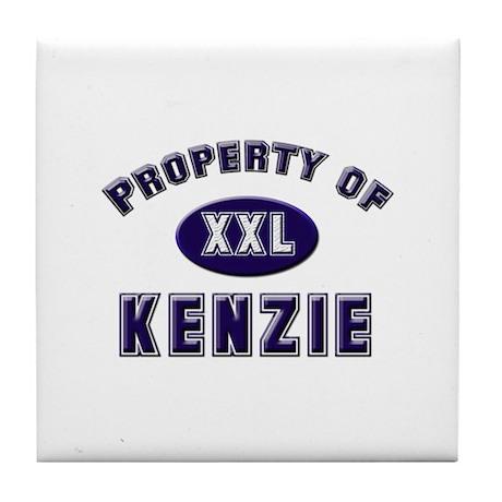 Property of kenzie Tile Coaster