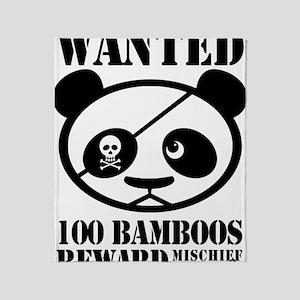 PandaWanted Throw Blanket