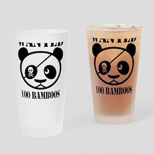 PandaWanted Drinking Glass