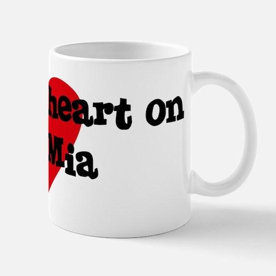 Heart on for Mia Mug