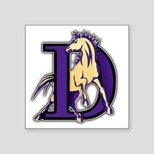 "Denton High School Broncos Square Sticker 3"" x 3"""