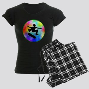 skater tie-dye Women's Dark Pajamas