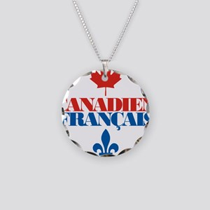 Canadien Francais 5 Necklace Circle Charm