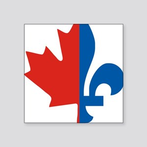 """Maple-Fleur Square Sticker 3"""" x 3"""""""