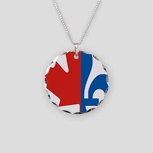 Maple-Fleur Necklace Circle Charm