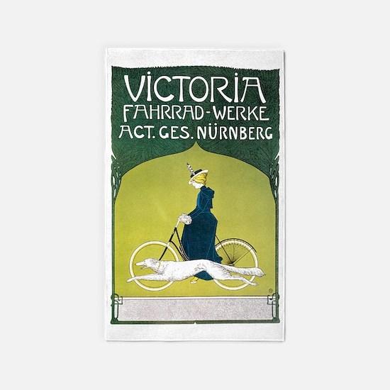 Vintage Art Nouveau Poster 3'x5' Area Rug