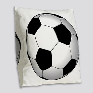soccer01 Burlap Throw Pillow