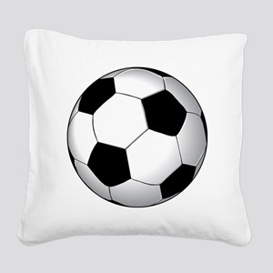 soccer01 Square Canvas Pillow