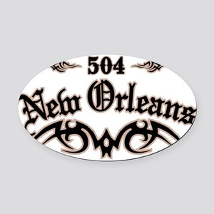 New Orleans 504 Oval Car Magnet