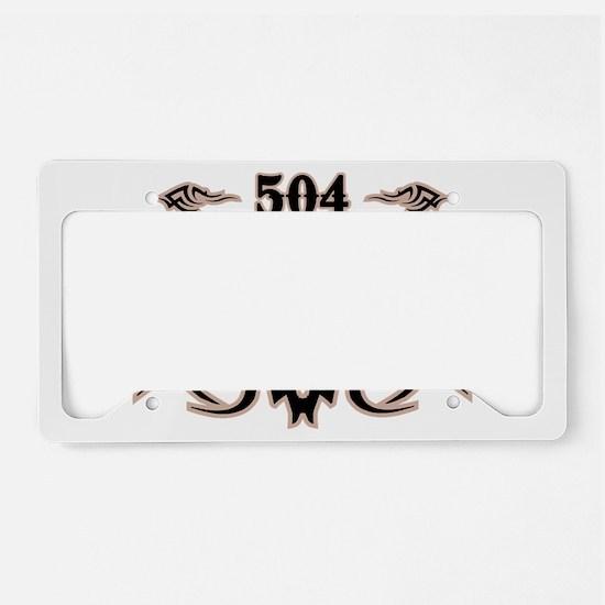 New Orleans 504 License Plate Holder