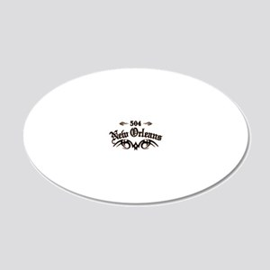 New Orleans 504 20x12 Oval Wall Decal