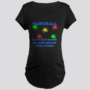 Paintball Welts Blue Maternity Dark T-Shirt