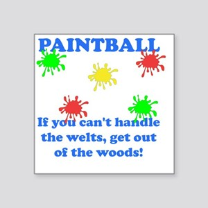 "Paintball Welts Blue Square Sticker 3"" x 3"""
