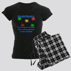 Paintball Welts Blue Women's Dark Pajamas