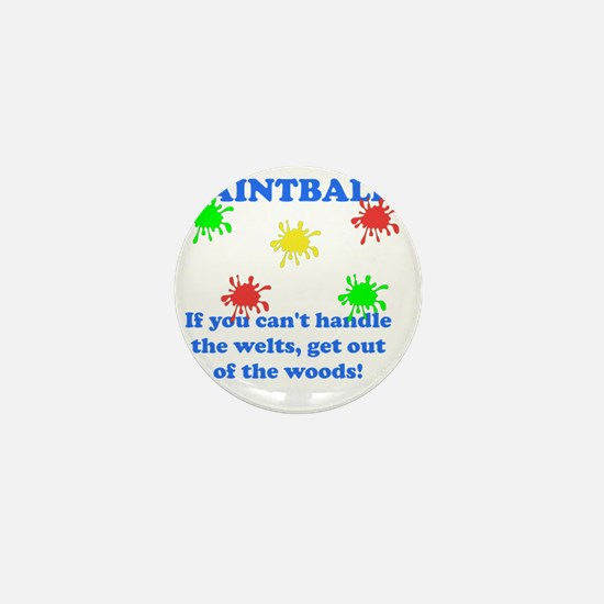 Paintball Welts Blue Mini Button