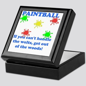 Paintball Welts Blue Keepsake Box