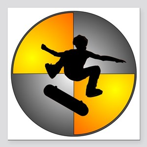 "skater_nuke_lrg Square Car Magnet 3"" x 3"""
