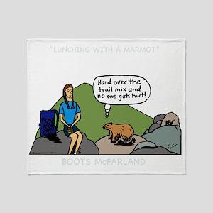 MarmotShirt Throw Blanket