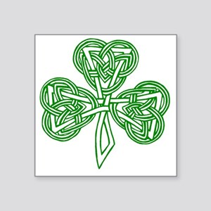 "Celtic_Knot_Clover_Tattoo_b Square Sticker 3"" x 3"""