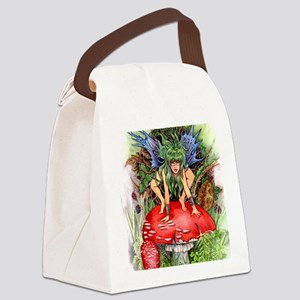 green faerie Canvas Lunch Bag